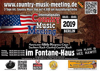 country music meeting berlin fontane haus messe berlin fontanehaus. Black Bedroom Furniture Sets. Home Design Ideas